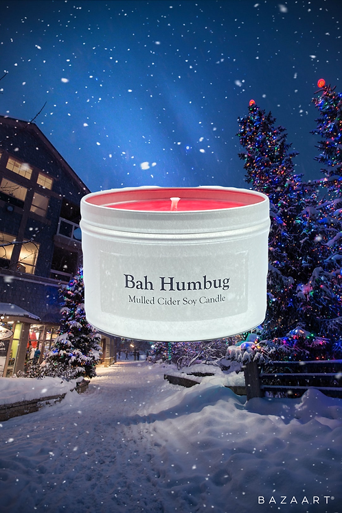 Bah Humbug--Spicy Cinnamon Apples--8 oz Candle