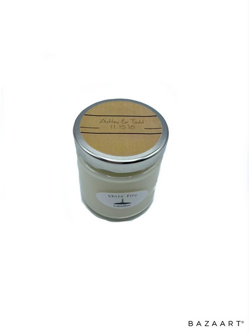 Rustic Country Jar 4 oz Soy Candle Favor