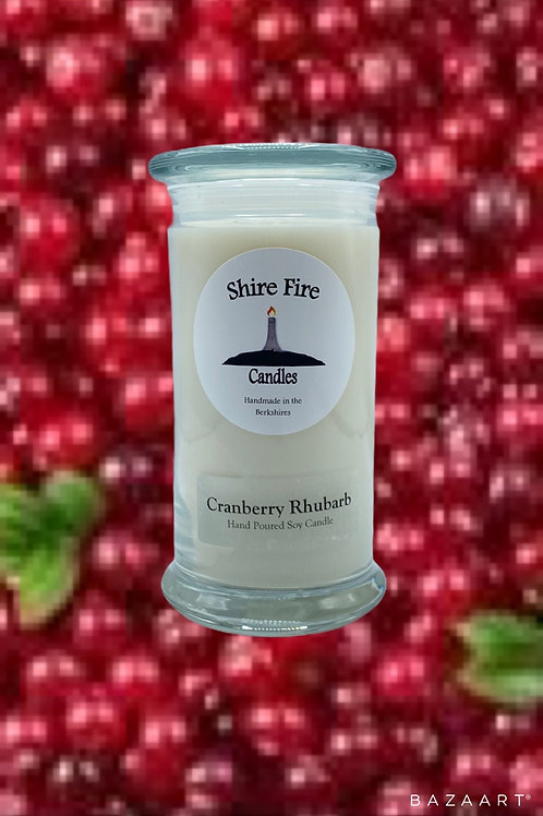 Cranberry Rhubarb 22 oz Jar Candle