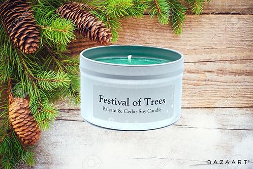 Festival of Trees--Balsam & Cedar--8 oz Candle