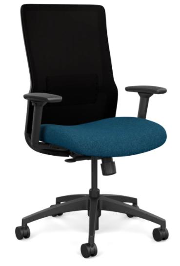 Sitonit Home Novo Highback- Black Back/Blue Seat