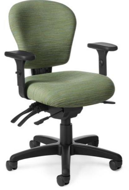 OM Patriot Petite Task Chair Black