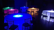 LED Lit Lucite Table Rentals
