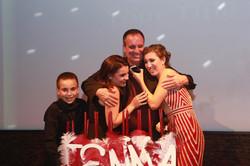 Family photo Sweet 16 candlelighting