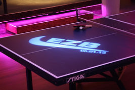 Custom branded Ping Pong Table Rentals