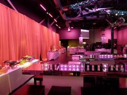 Mirror tables at Club Vibe