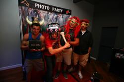 Photo booth at Club Vibe Graduation