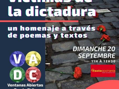 VADC En vivo | Víctimas de la dictadura - homenaje a través de poemas y textos PARTE 2