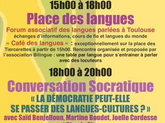 JOURNÉE EUROPÉENNE DES LANGUES 2019- PLACE ARNAUD BERNARD TOULOUSE
