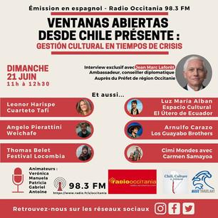 Podcast: Gestion cultural en tiempos de crisis | Ventanas abiertas desde Chile - Junio 2020 parte 1