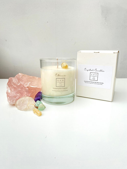 Luxury Citrine Crystal, Pampering Bliss Fragrance