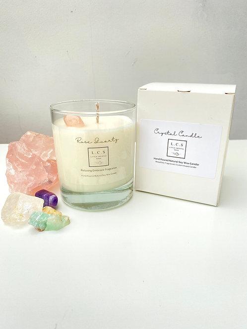Luxury Rose Quartz Crystal, Relaxing Embrace Fragrance