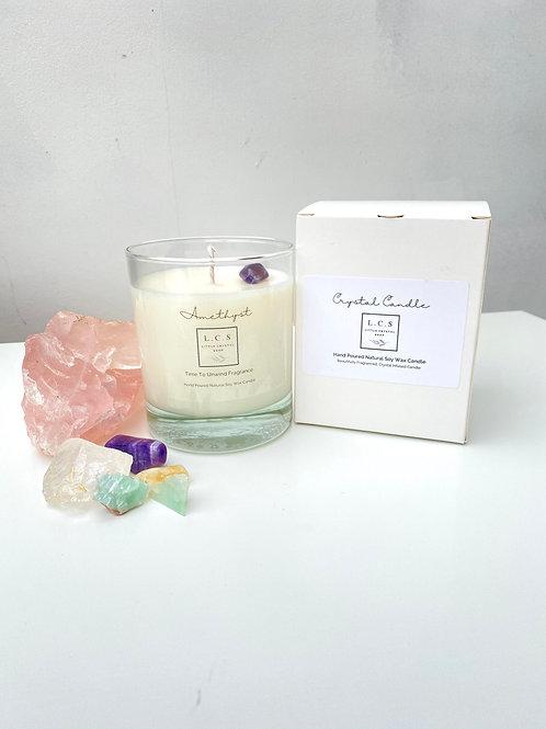 Luxury Amethyst Crystal, Time to Unwind Fragrance