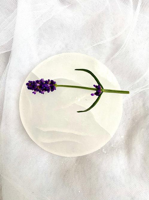 Selenite Round Charging Plate