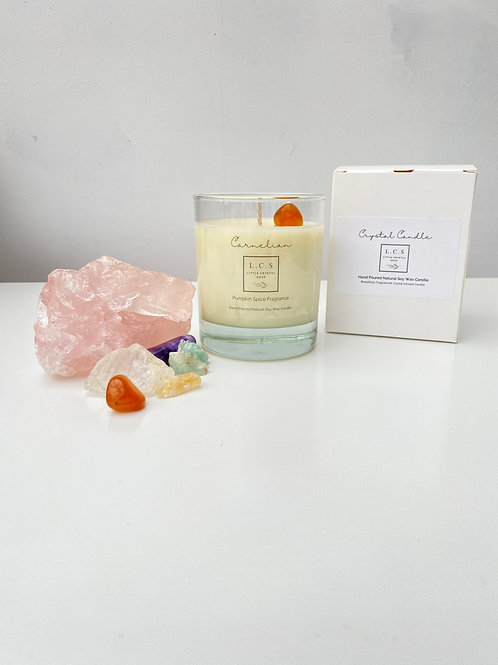 Luxury Carnelian Crystal, Pumpkin Spice Fragrance