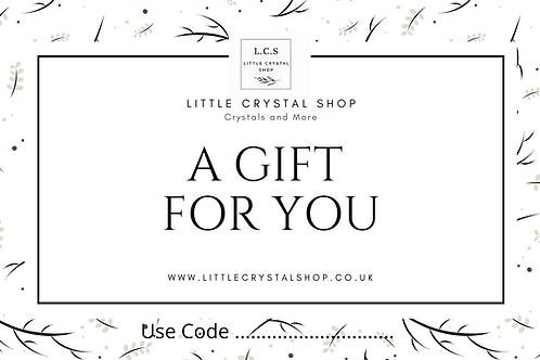 Gift Certificate from  £5, to £50