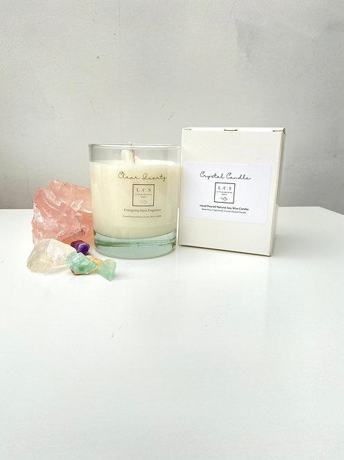 Luxury Clear Quartz Crystal, Energising Oasis Fragrance.