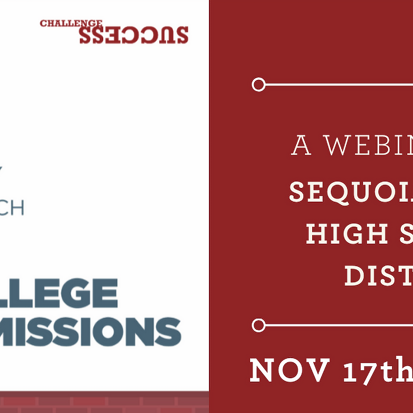 A Healthy Approach to College Admissions - Challenge Success