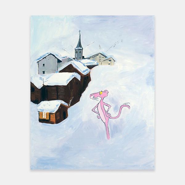 Karen Kilimnik Pink Panther Going for his Morn