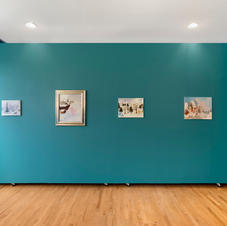 Installation view of Karen Kilimnik: Christmas Service for the Forest Pets, November 2020 – January 2021, South Etna Montauk. Courtesy of the artist, 303 Gallery, New York, and South Etna Montauk.