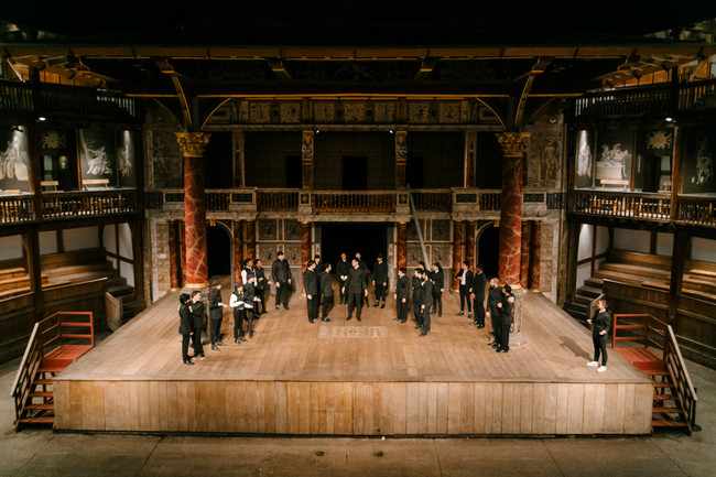 performing As You Like it/Julius Caesar on the Globe stage