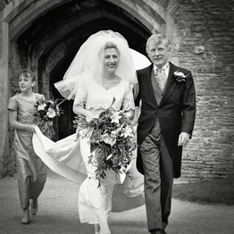 Wedding Day Walking in Together
