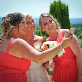 Wedding Day Bridesmaids-Selfie