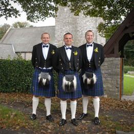 Wedding Day Groom and Bestmen