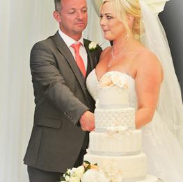 Wedding Day Cutting the Cake