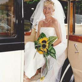 Wedding Day Bride Arriving