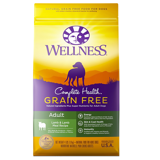 Wellness Complete Health Grain Free - Lamb & Lamb Meal (4lb)