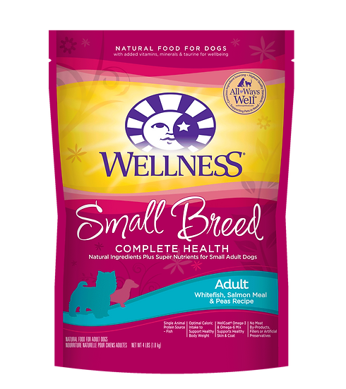 Wellness Complete Health - Small Breed (Adult) Whitefish,Salmon & Peas (4lb)