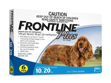 Frontline Plus - Medium Dogs (6 Pipettes)