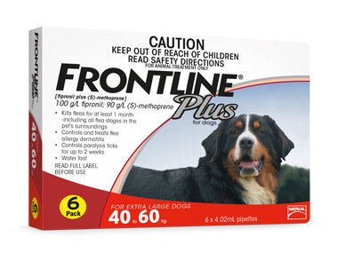 Frontline Plus - Extra Large Dogs (6 Pipettes)