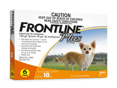 Frontline Plus - Small Dogs      (6 pipettes)