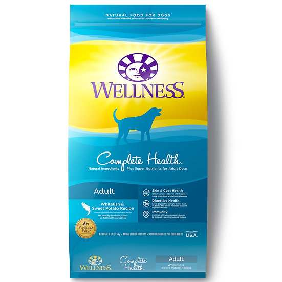 Wellness Complete Health Whitefish & Sweet Potato Meal (30lb)