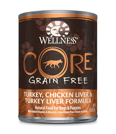 Wellness Core Grain Free - Turkey, Chicken Liver & Turkey Liver (12.5oz)
