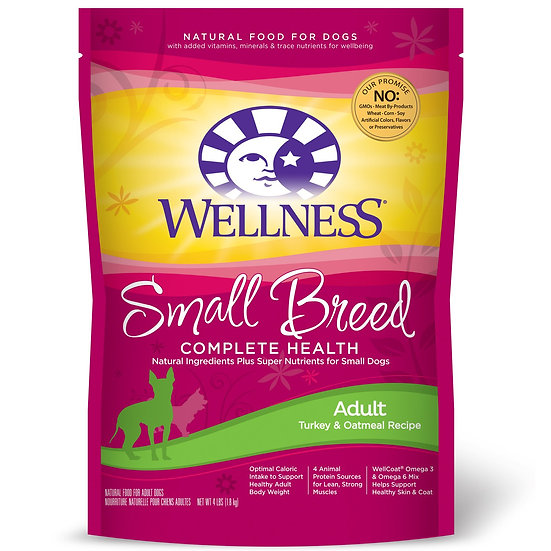 Wellness Complete Health - Small Breed (Adult) Turkey & Oatmeal (12lb)