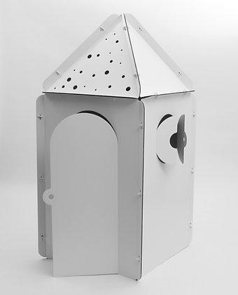 Cabane en carton à personnaliser - Tétragone avec les toits en triangle