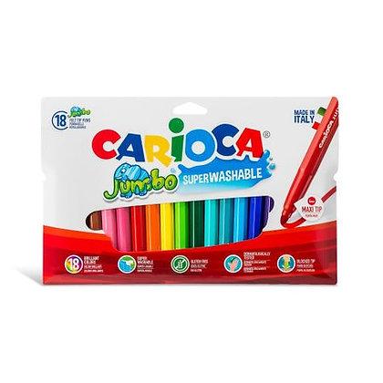 Carioca feutre Jumbo - 18 pièces
