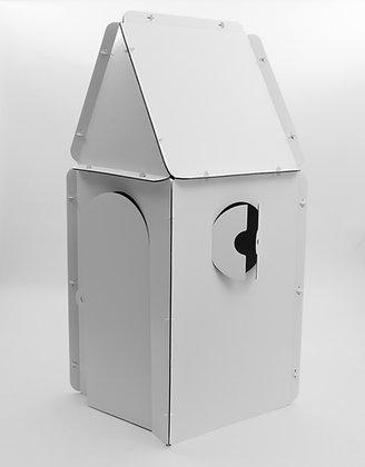 Cabane en carton à personnaliser - Tetragone avec les toits triangle et carré