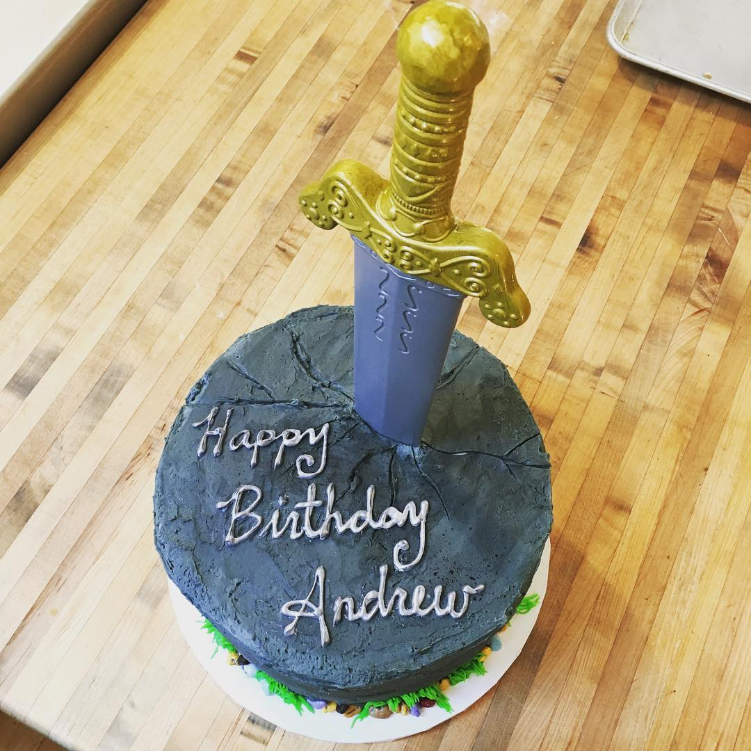 Sword in the Stone Cake