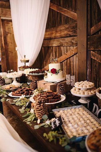 dessert table with wedding cake.jpg