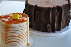 Lumberjack and Pancakes Cake