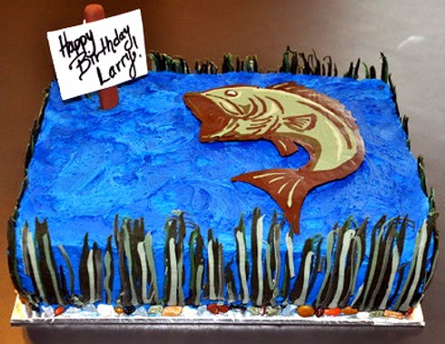 Fish themed Sheet Cake