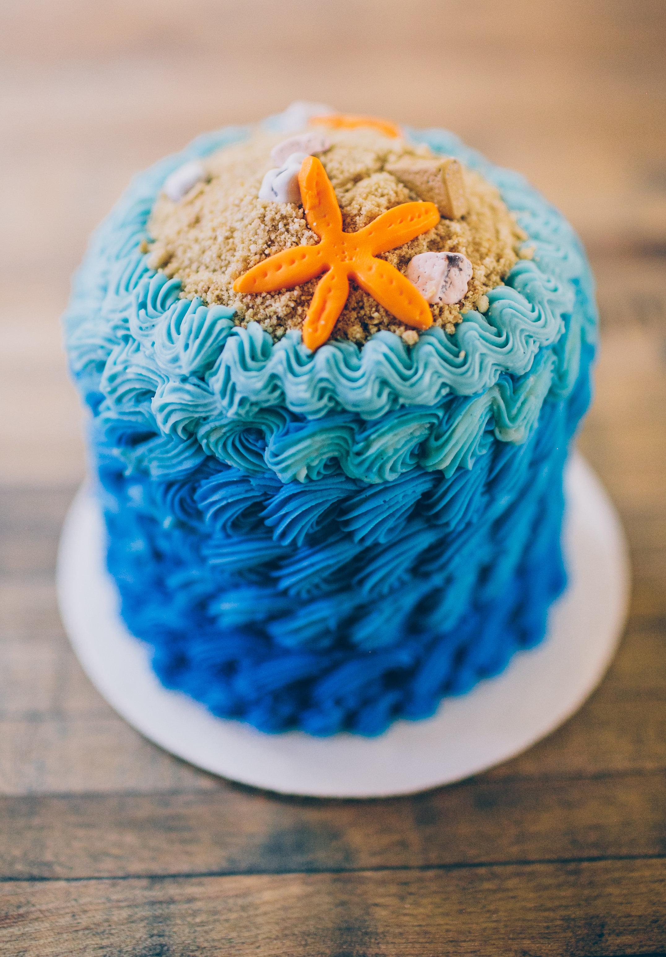 Beach Themed Smash Cake