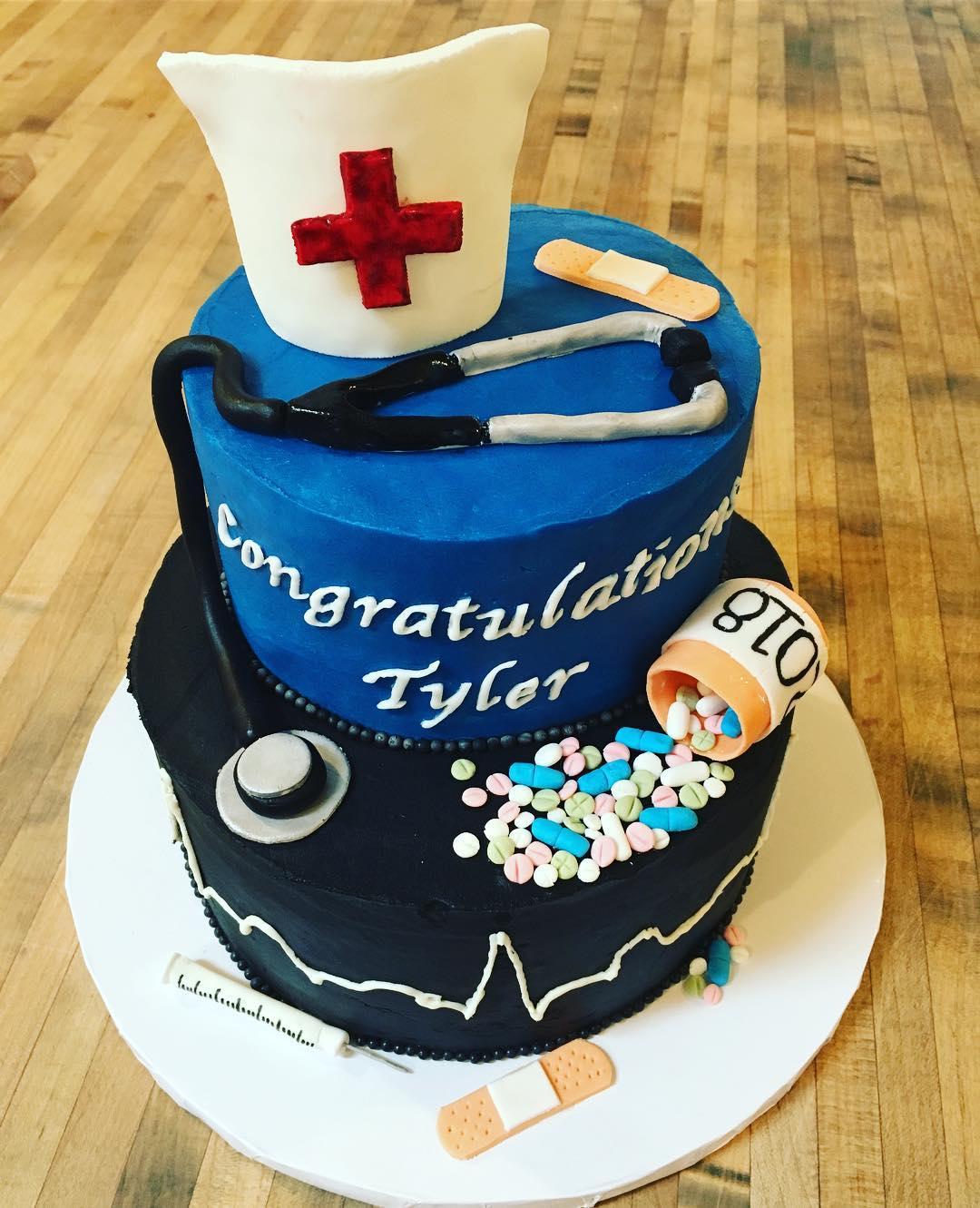 Nursing Grad Cake