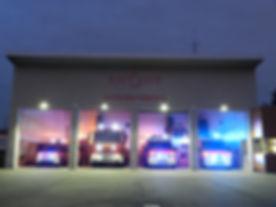 Pompiers St Cyr/St Didier : caserne de nuit
