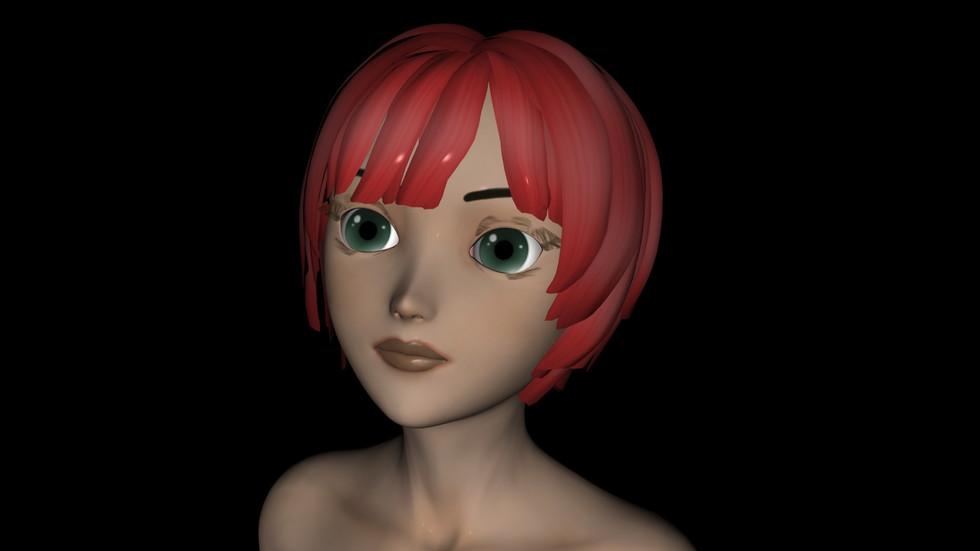 Hiro red hair
