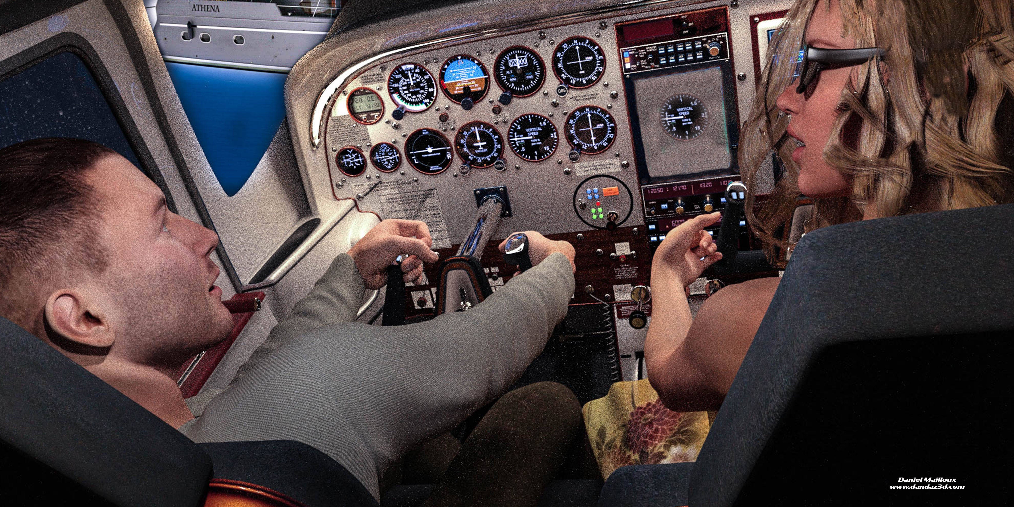 Grimwood airplane cockpit